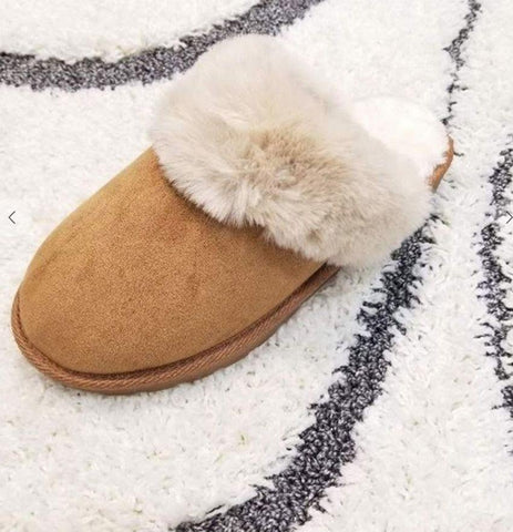 Image of Fur slippers shoes lets ee style