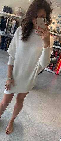 Fuzzy Asymmetrical Sweater/Dress Olivaceous