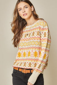 Gingerbread Faire Isle Sweater Sweater andree by unit small ivory