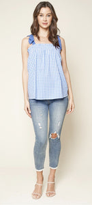 Gingham Tie Top Sugarlips