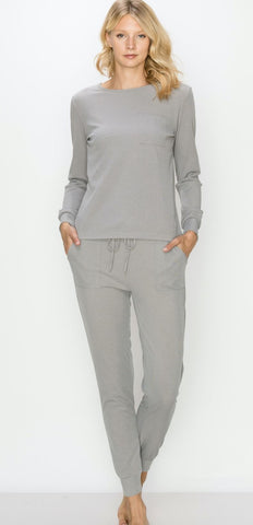 Heather Gray Jogger Set Kimberly C