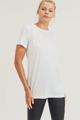 Image of Hi-Lo Vented Top athletic wear Mono B small white
