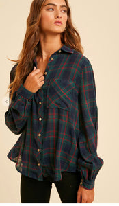 Holiday Plaid Button Down In Loom