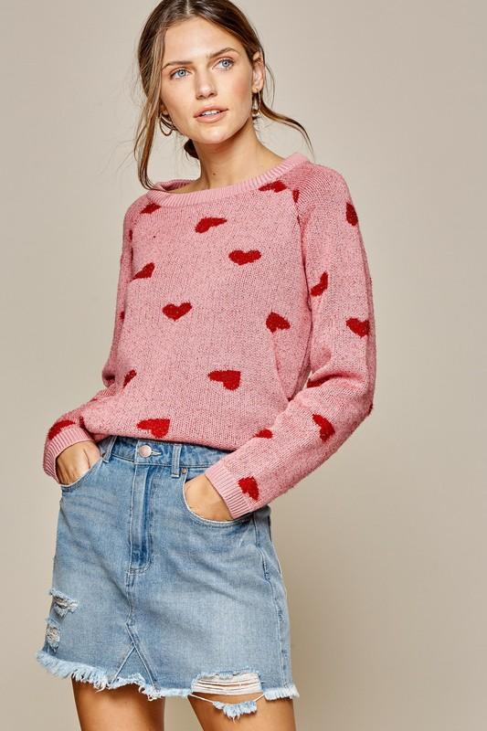 Intarsia Red Heart Sweater Sweater andree by unit