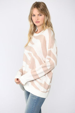 Image of Intarsia Zebra Stripe Sweater Sweater Fate
