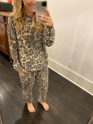 Leopard Jogger Set Cherish