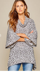 Leopard Oversized Tunic andree by unit