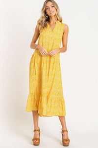 Marigold Tiered Midi Dress lush