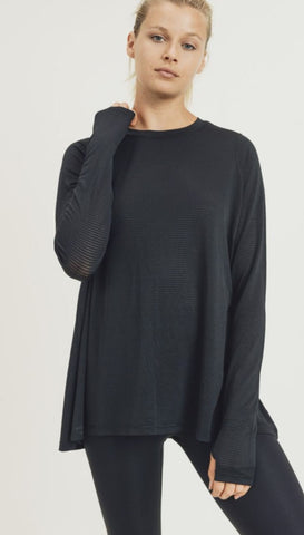 Image of Mesh Cutout Top Mono B
