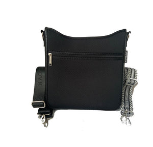 Messenger Metallic Black Handbags PreneLOVE