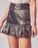 Metallic Belted Skirt SNAP-Something New And Pretty