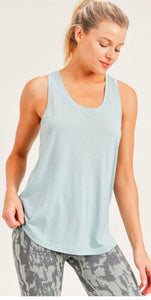 Open Overlay Back Tank Top Mono B