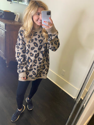 Oversized Leopard Sweater bibi