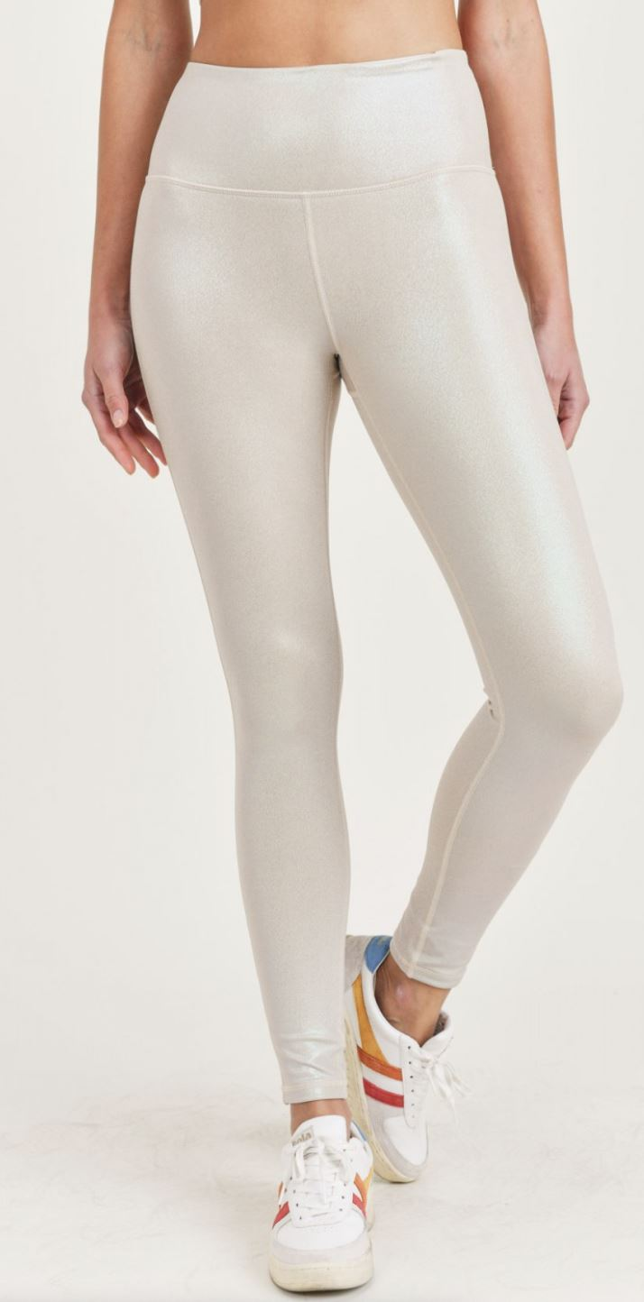 Pearlescent Holo Foil Highwaist Leggings Mono B