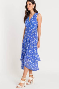 Periwinkle Floral Midi Dress lush