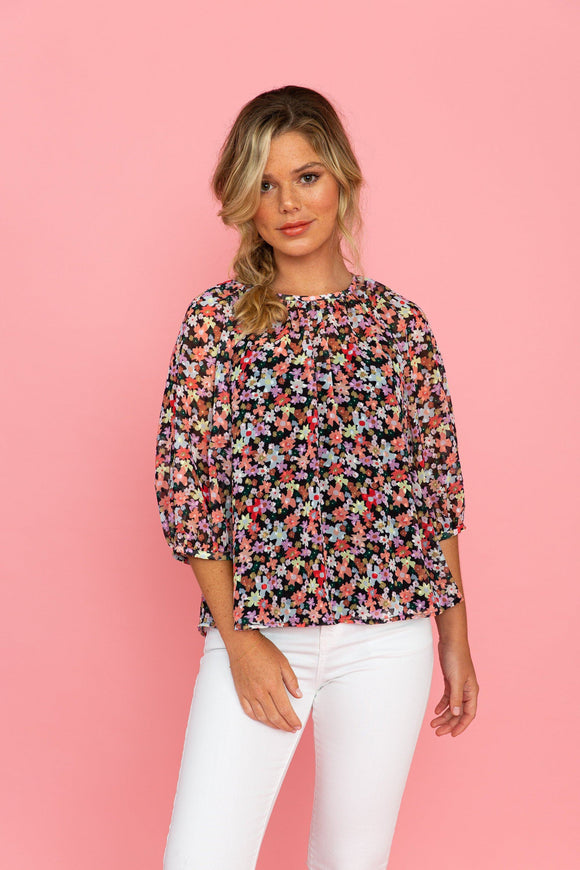 Porter Top in Ethereal Blooms tops Crosby by Mollie Burch