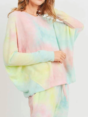 Rainbow Brushed Knit Top Cherish