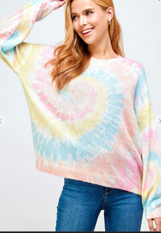 Rainbow Swirl Knit Top Solution