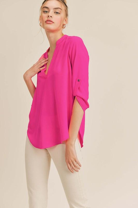 Roll Tab Tunic Top lush