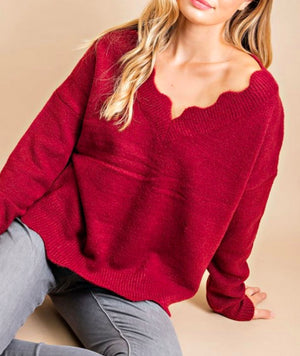 Scalloped Sweater Eesome