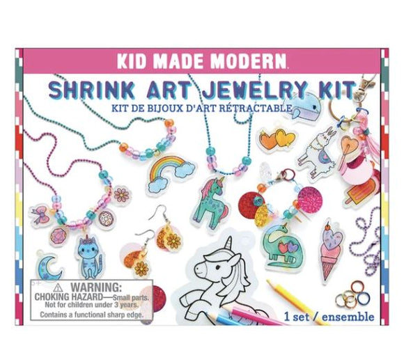 Shrink Art Jewelry Kit Kid Made Modern