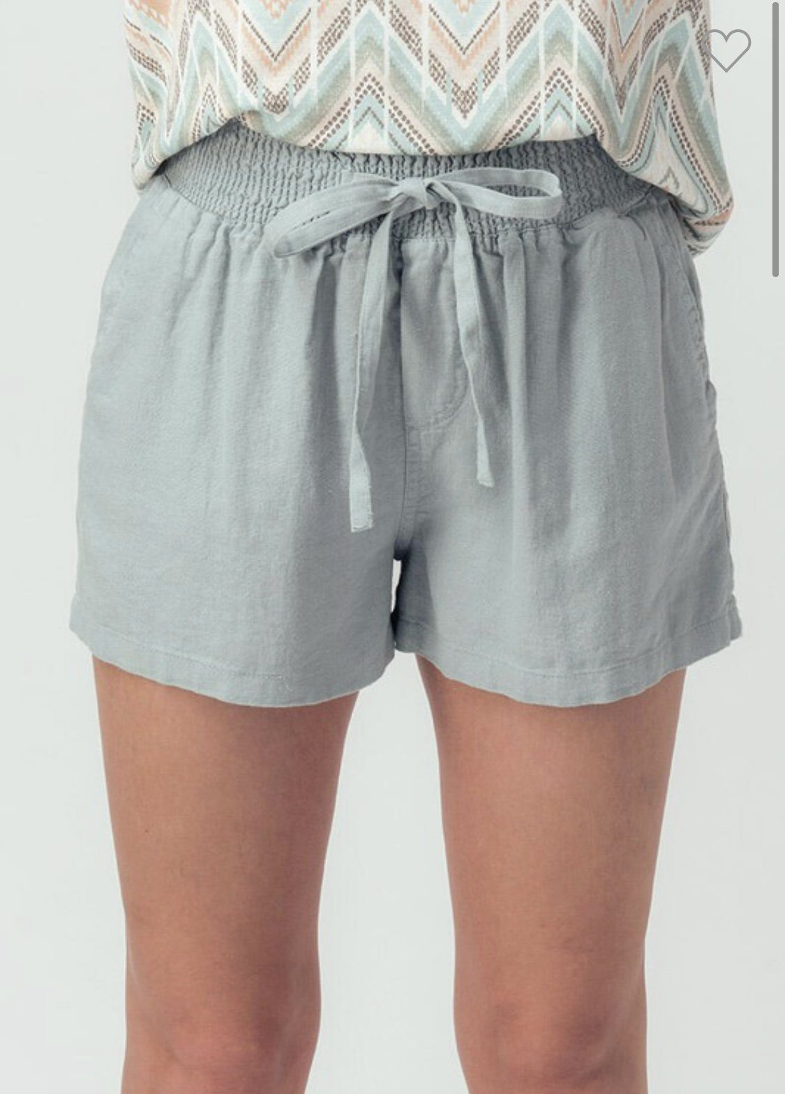 Smock Drawstring Short Trend Notes