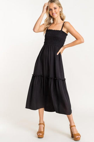 Image of Smocked Bodice Midi Dress lush
