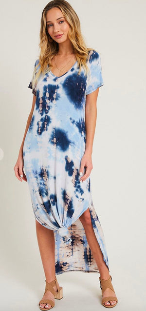 Tie Dye Midi with Side Slits Eesome