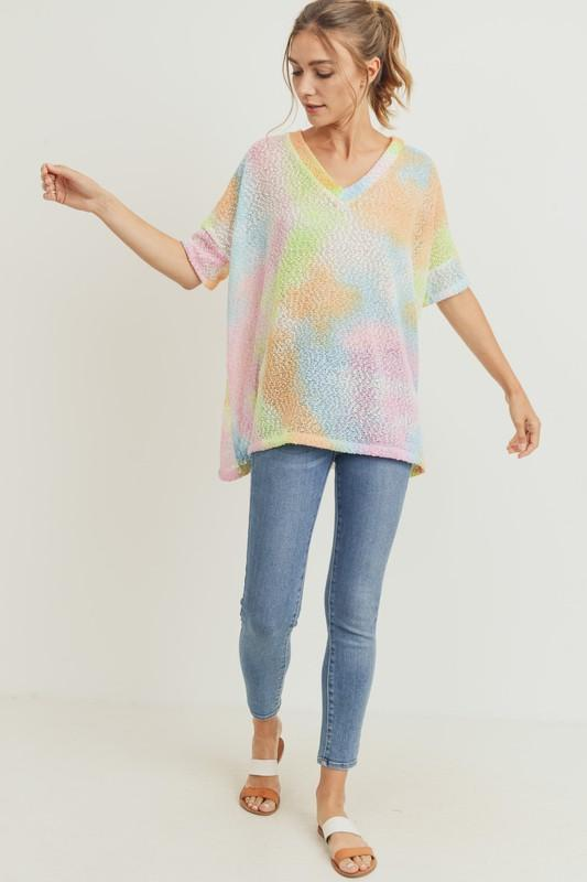 Tie Dye Tunic Sweater Sweater Cherish