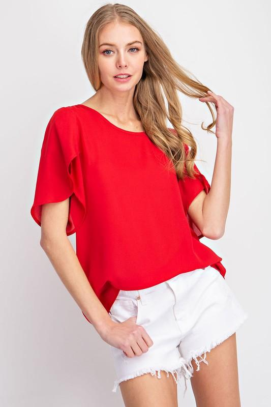 Tulip Sleeve Top Top FSL Apparel