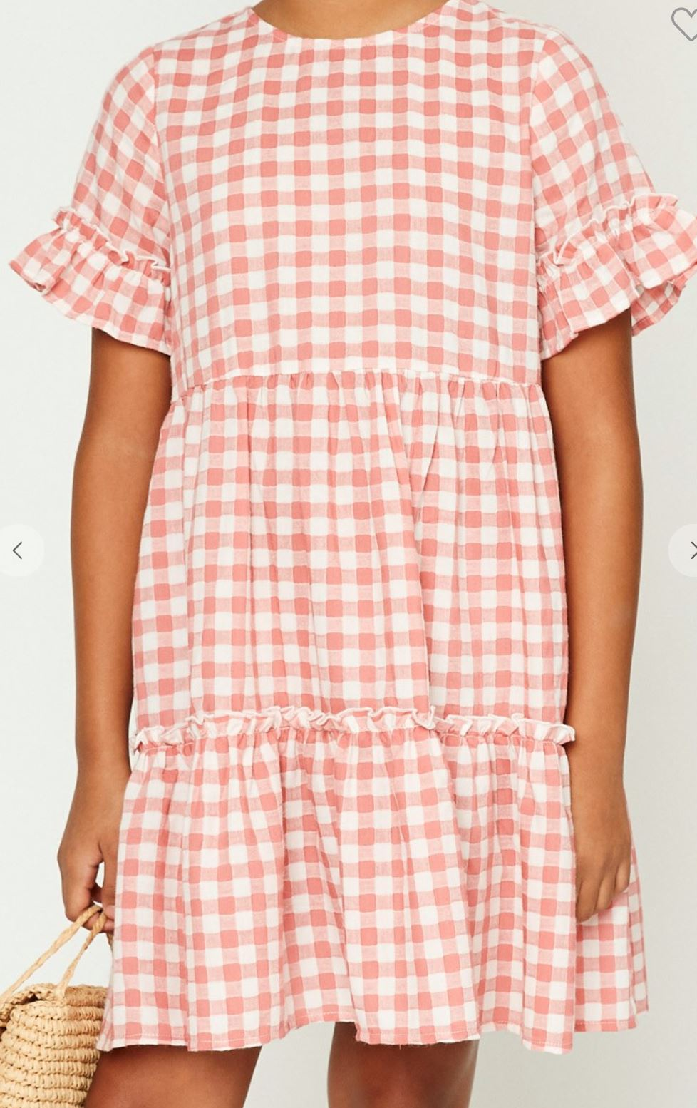 Tween Pink Gingham Dress Hayden Los Angeles