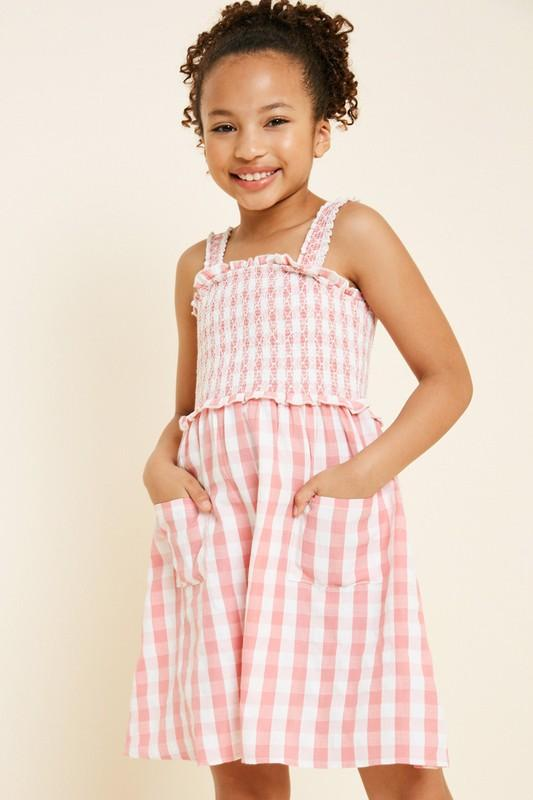 Tween Smocked Gingham Dress tween Hayden Los Angeles