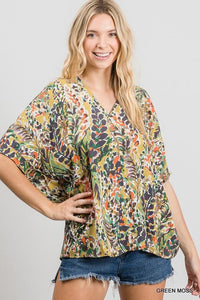 Watercolor Flowy Top SNAP-Something New And Pretty