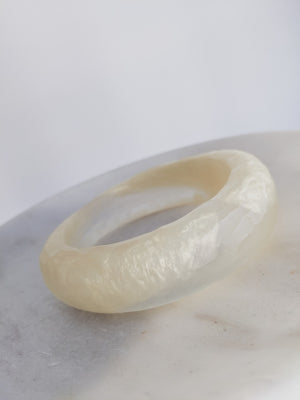 HANDMADE TEXTURED RESIN BANGLE