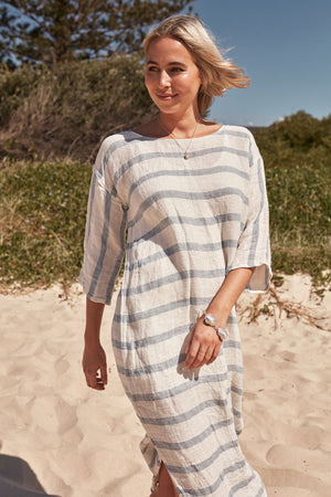 POSITANO KAFTAN WITH SLEEVES