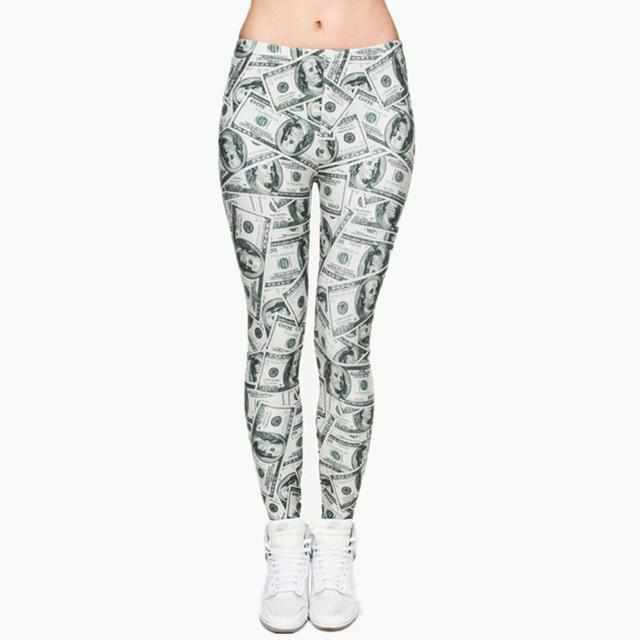 Round Ombre Printing Leggings - BrandNu International