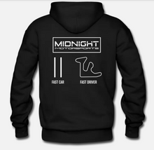 Load image into Gallery viewer, MIDNIGHT MOTORSPORTS DOUBLE SIDED - FAST DRIVER/APEX - PULLOVER HOODIE SWEATSHIRT