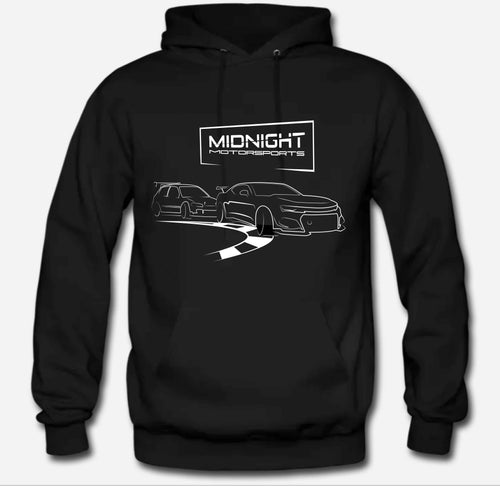 MIDNIGHT MOTORSPORTS DOUBLE SIDED - FAST DRIVER/APEX - PULLOVER HOODIE SWEATSHIRT