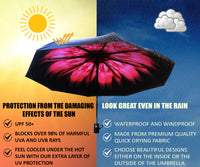 Umbrella infographic protection from the sun and the rain