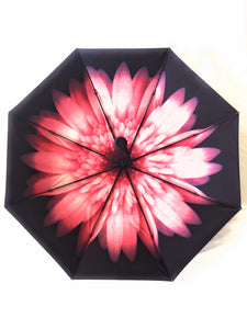 Pink floral umbrella; interior design, upf50 uv umbrella for women