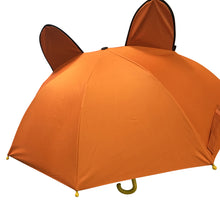 Load image into Gallery viewer, back of kids umbrella brown bear umbrella boys umbrella for kids
