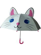 Load image into Gallery viewer, kids umbrella white cat umbrella girls umbrella for kids