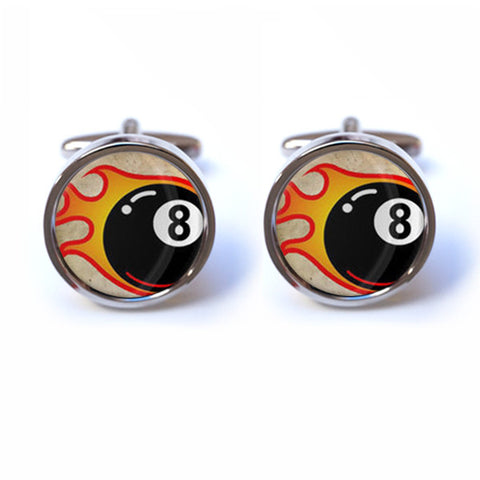 8 Ball Pool Cufflinks