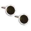 Onyx Round Port Hole Cufflinks