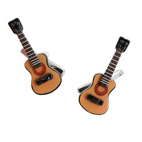 Acoustic Guitar Music Cufflinks
