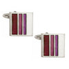 Purple Stripe Cufflinks