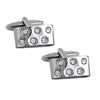 Curved 6 Crystal Cufflinks