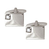 Clear Crystal Rectangular Cufflinks