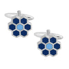 Blue Hexagonals Cufflinks