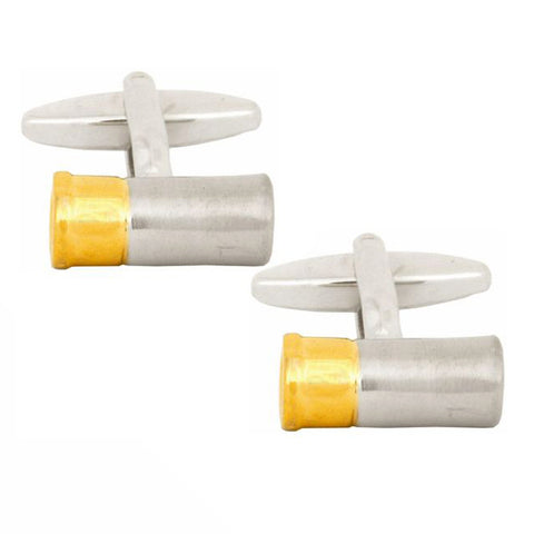 2-Tone Gun Cartridge Cufflinks